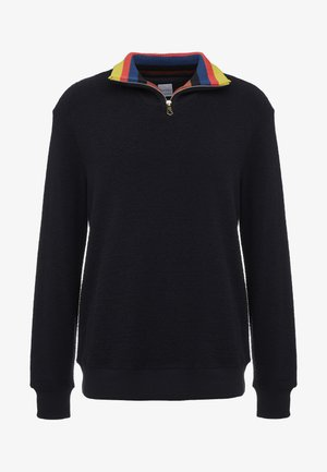 GENTS ZIP COLLAR TOP - Pullover - black