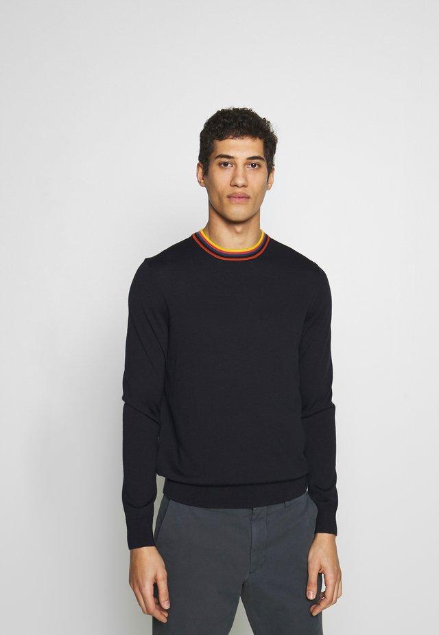 GENTS CREW NECK - Stickad tröja - dark blue
