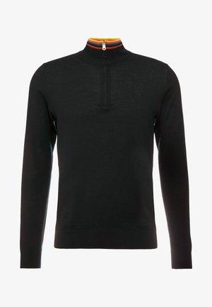 GENTS ZIP NECK - Strickpullover -  black