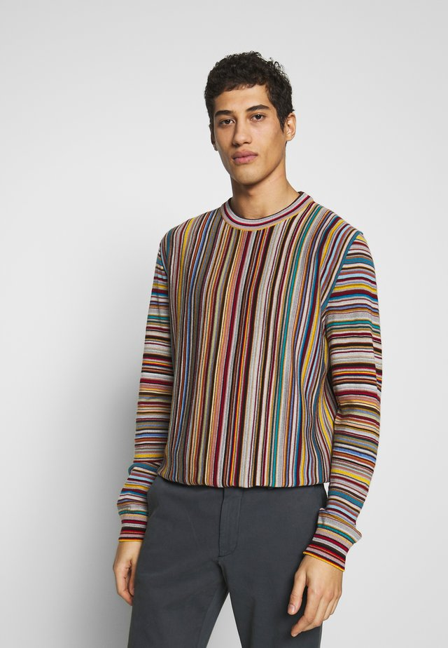GENTS PULLOVER CREW NECK - Stickad tröja - multicoloured