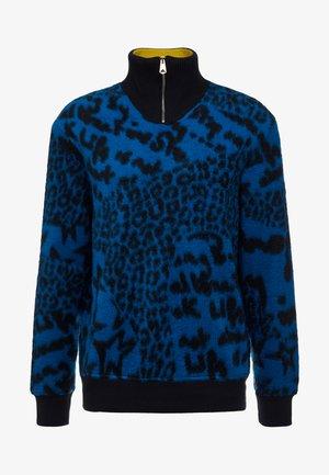 GENTS ZIP COLLAR TOP - Sweatshirt - blue