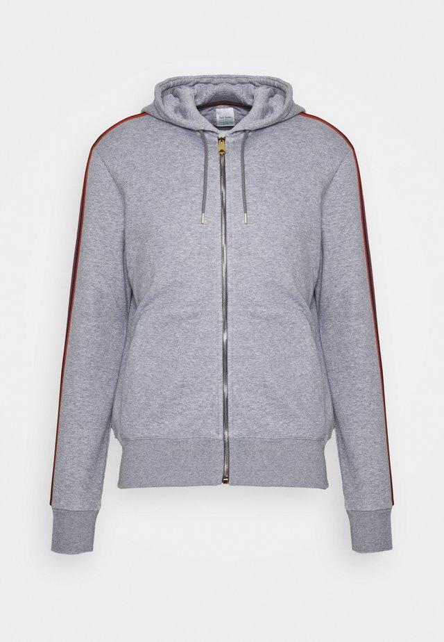 GENTS ZIP THROUGH TAPED SEAMS HOODY - Zip-up hoodie - mottled grey