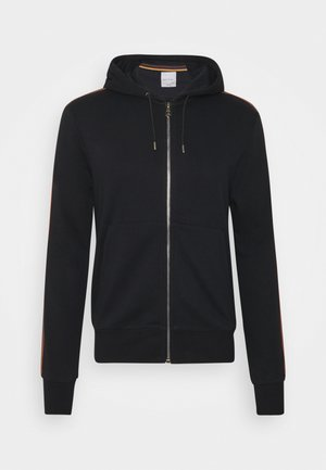 GENTS ZIP THROUGH TAPED SEAMS HOODY - Zip-up hoodie - black