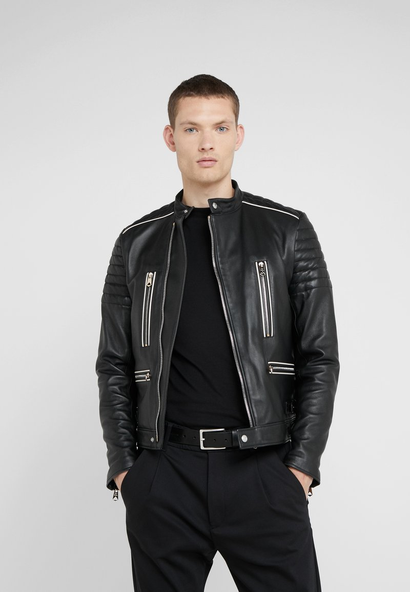 Paul Smith - Leather jacket - black