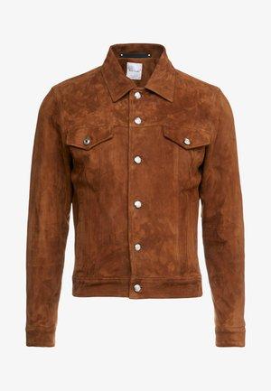 GENTS JACKET - Leather jacket - camel