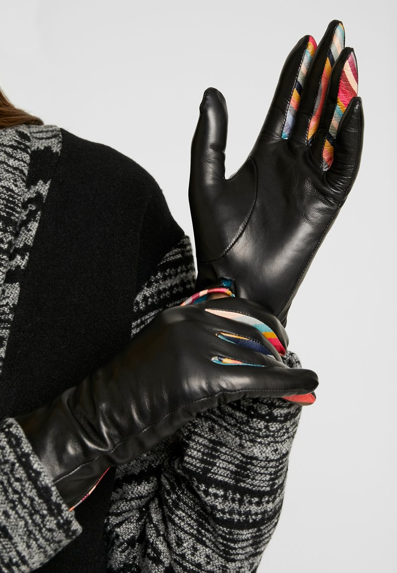 Paul Smith - WOMEN GLOVE CON SWIRL - Gloves - black