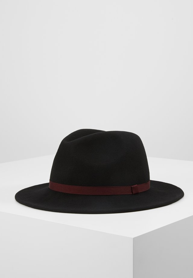 WOMEN HAT FEDORA - Hut - black