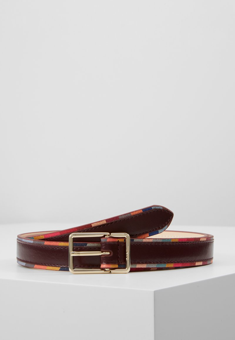Paul Smith - WOMEN BELT SWIRL EDGE - Bælter - burgundy