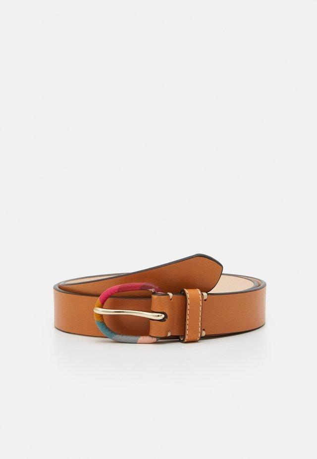 BELT SWIRL BUCKLE - Belt - tan