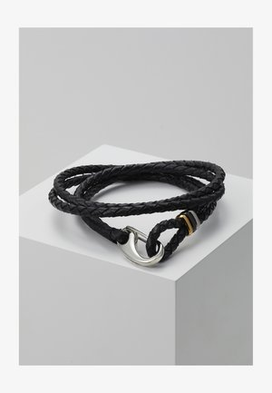 MEN BRACELET WRAP - Náramek - black