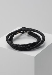 Paul Smith - MEN BRACELET WRAP - Náramek - black - 0