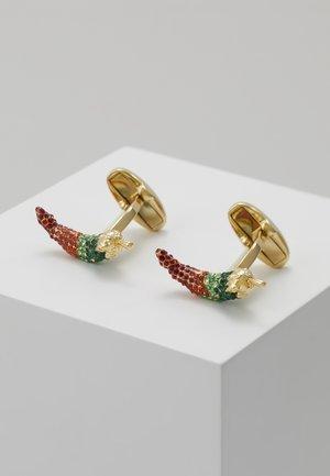 CUFFLINK CHILLI - Manžetové knoflíčky - gold-coloured/multi-coloured