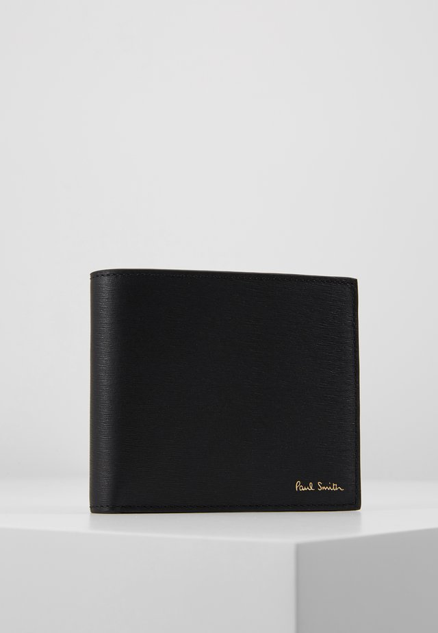 WALLET COIN STRAW - Plånbok - black