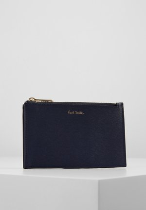WALLET POUCH STRAW - Portefeuille - blue