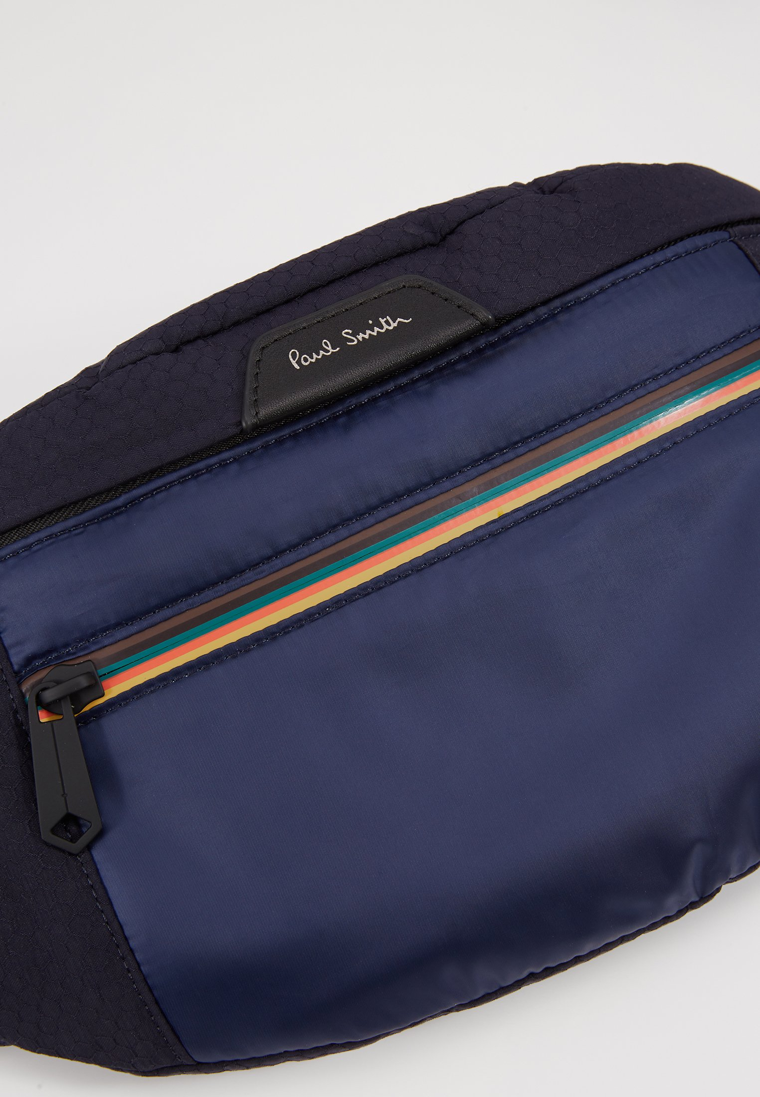 Paul Smith WAISTBAG STRIPE ZIP - Torba na ramię - blue