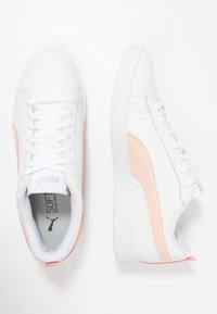Puma - SMASH - Baskets basses - white/peach parfait/silver - 3