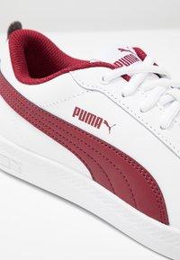 Puma - SMASH - Baskets basses - white/rhubarb - 2