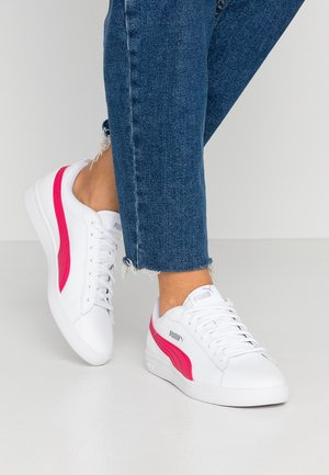 SMASH - Sneakers laag - white/bright rose/silver