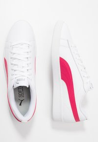 Puma - SMASH - Trainers - white/bright rose/silver - 3
