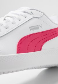 Puma - SMASH - Trainers - white/bright rose/silver - 2