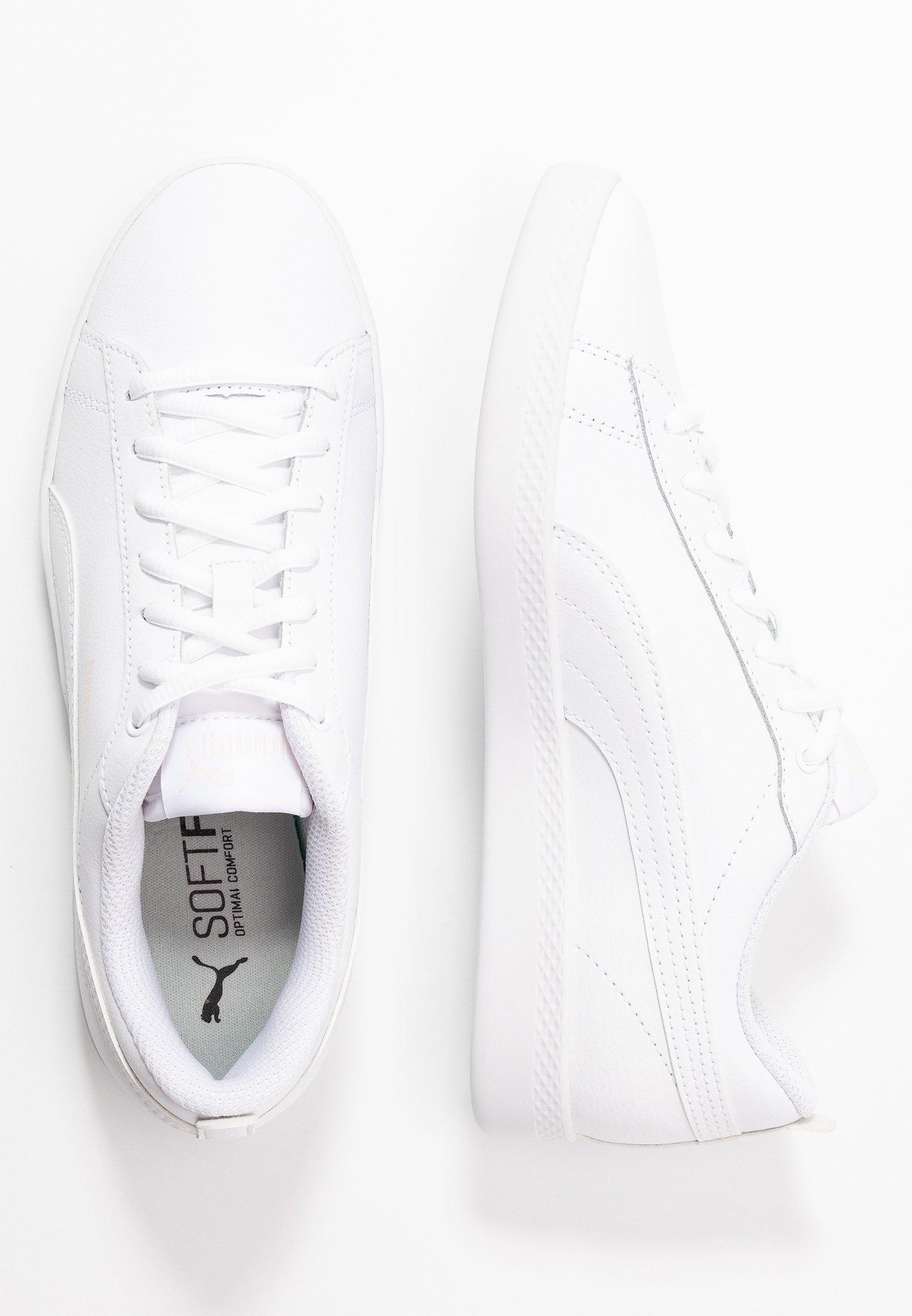 Puma SMASH - Baskets basses - white/rosewater