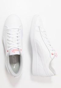 Puma - SMASH - Sneakers laag - white/salmon rose/gray violet - 3