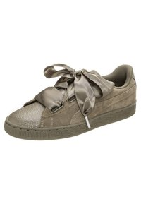 Puma - SUEDE HEART BUBBLE  - Trainers -  braun / silber - 2