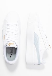 Puma - VIKKY STACKED - Baskets basses - white/plein air - 3