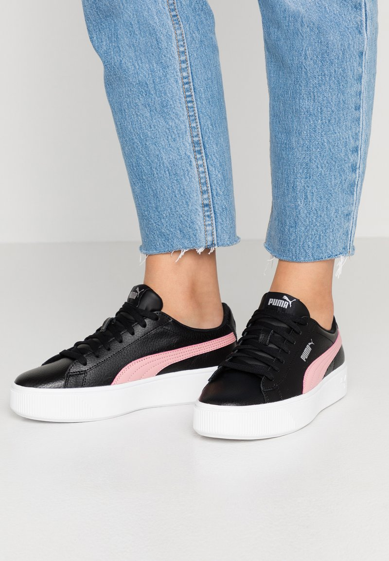 Puma - VIKKY STACKED - Trainers - black/rose