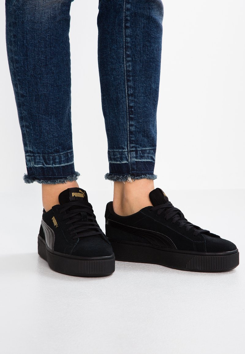 Puma - VIKKY STACKED - Sneaker low - black