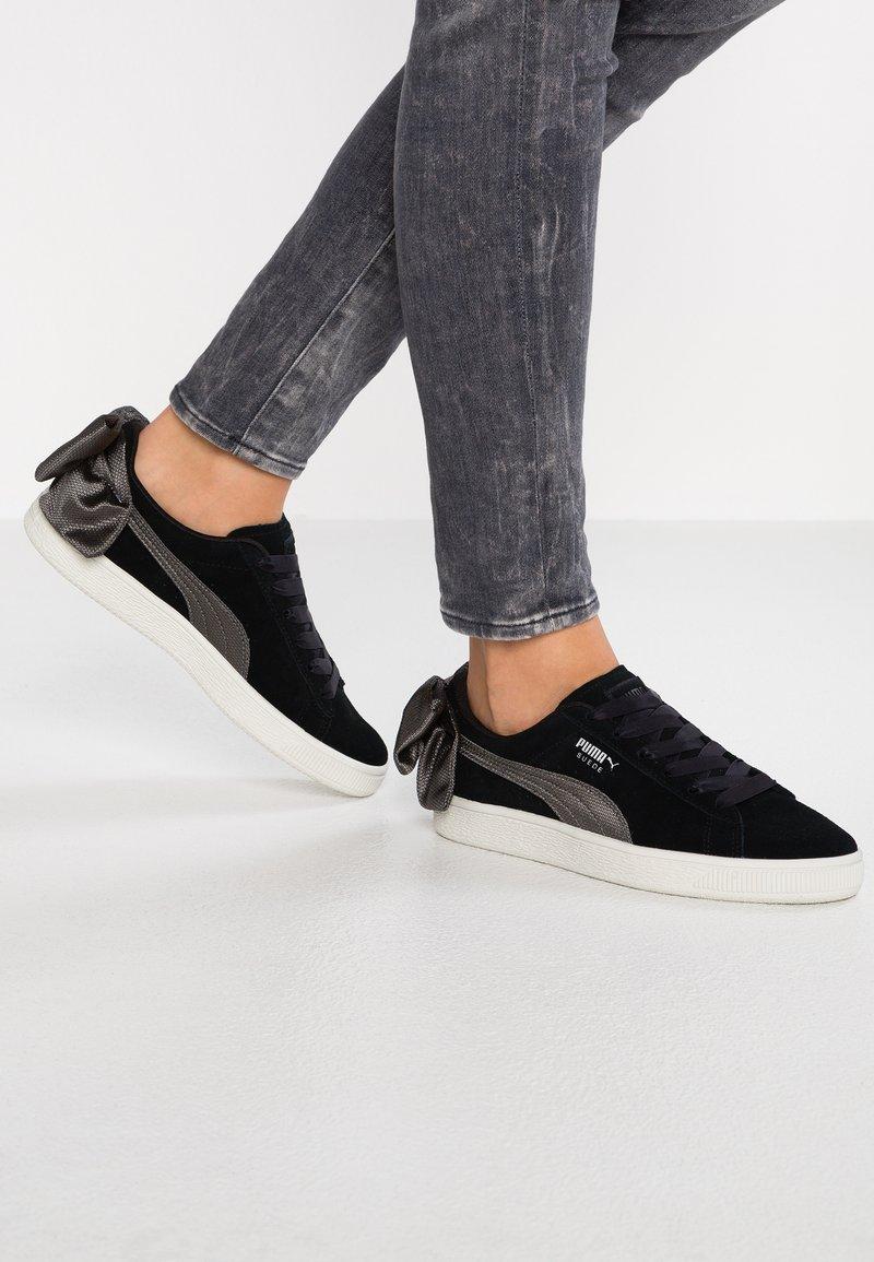 Puma - BOW  - Loafers - black/dark shadow
