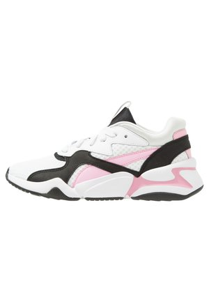 NOVA 90'S BLOC - Baskets basses - white/pale pink