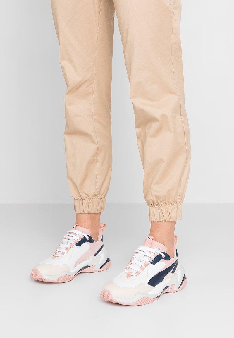 Puma - THUNDER RIVE GAUCHE - Trainers - dress blues/peach beige