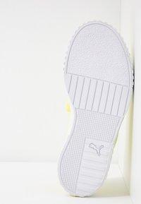 Puma - CALI X SG - Platform sandals - soft fluo yellow/white - 6