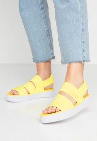 Puma - CALI X SG - Platform sandals - soft fluo yellow/white - 0