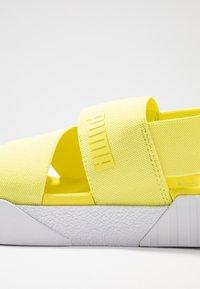 Puma - CALI X SG - Platform sandals - soft fluo yellow/white - 2