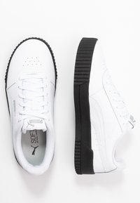 Puma - CARINA  - Baskets basses - white/black/silver - 3