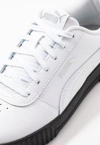 Puma - CARINA  - Baskets basses - white/black/silver - 2
