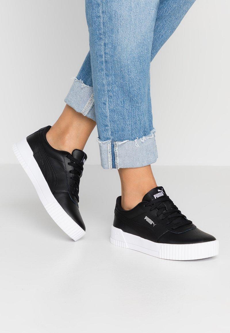 Puma - CARINA  - Sneakers - black/white/silver