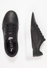 Puma - CARINA  - Baskets basses - black/white/silver - 3