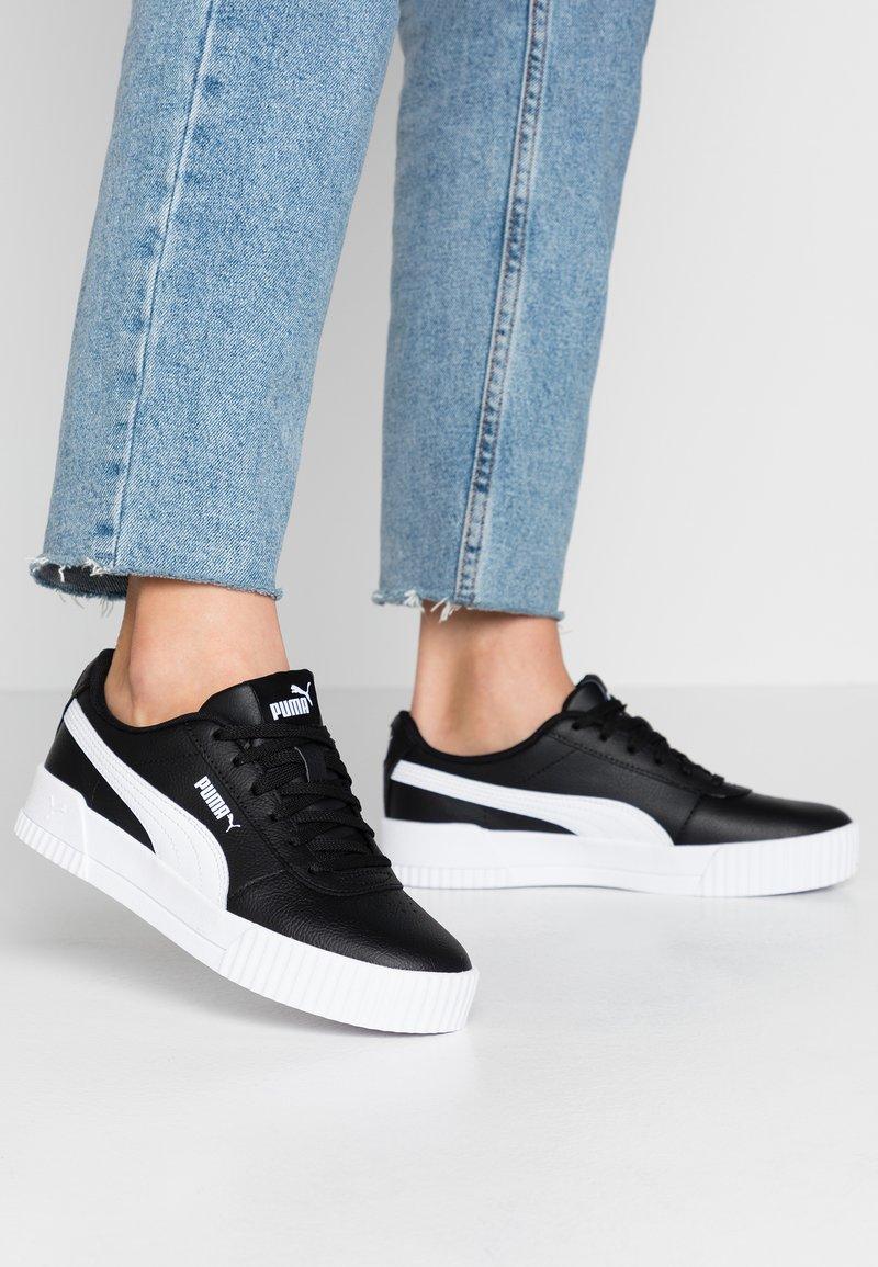Puma - CARINA  - Sneakersy niskie - black/white