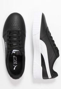 Puma - CARINA  - Sneakersy niskie - black/white - 3