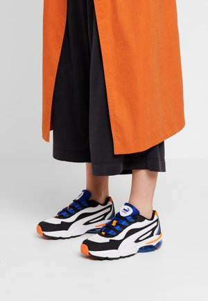 CELL STELLAR - Sneakersy niskie - black/surf the web/vibrant orange