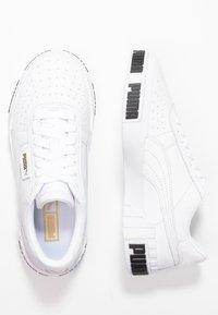 Puma - CALI BOLD - Baskets basses - white/metallic gold - 3