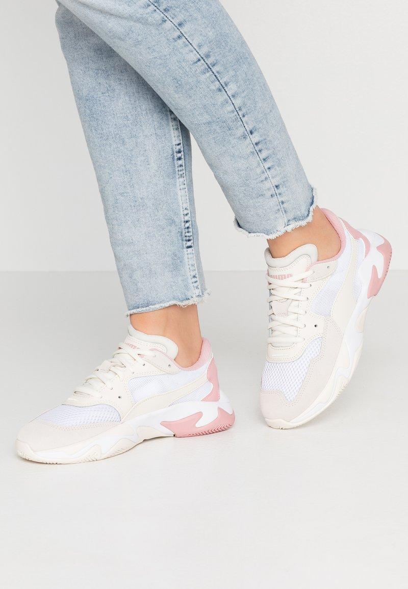 Puma - STORM ORIGIN - Sneaker low - pastel parchment/white