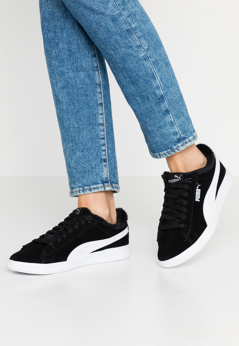 Puma - VIKKY V2 - Baskets basses - black/white/silver