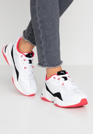CILIA LUX - Sneakersy niskie - white/black/energy rose/silver