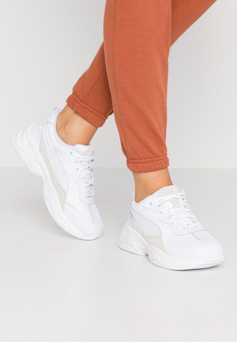 Puma - CILIA LUX - Sneaker low - white/ silver