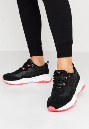 CILIA - Sneakers laag - black/calypso coral/silver/white