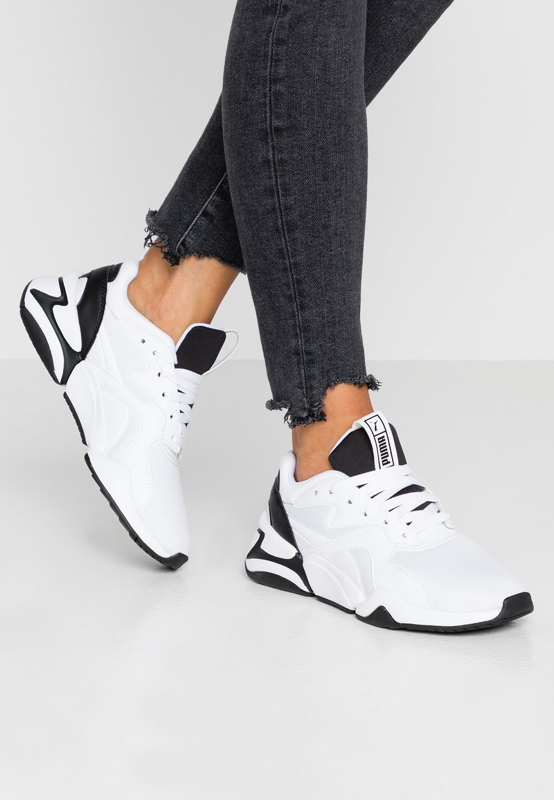 Puma - NOVA - Sneaker low - white/black